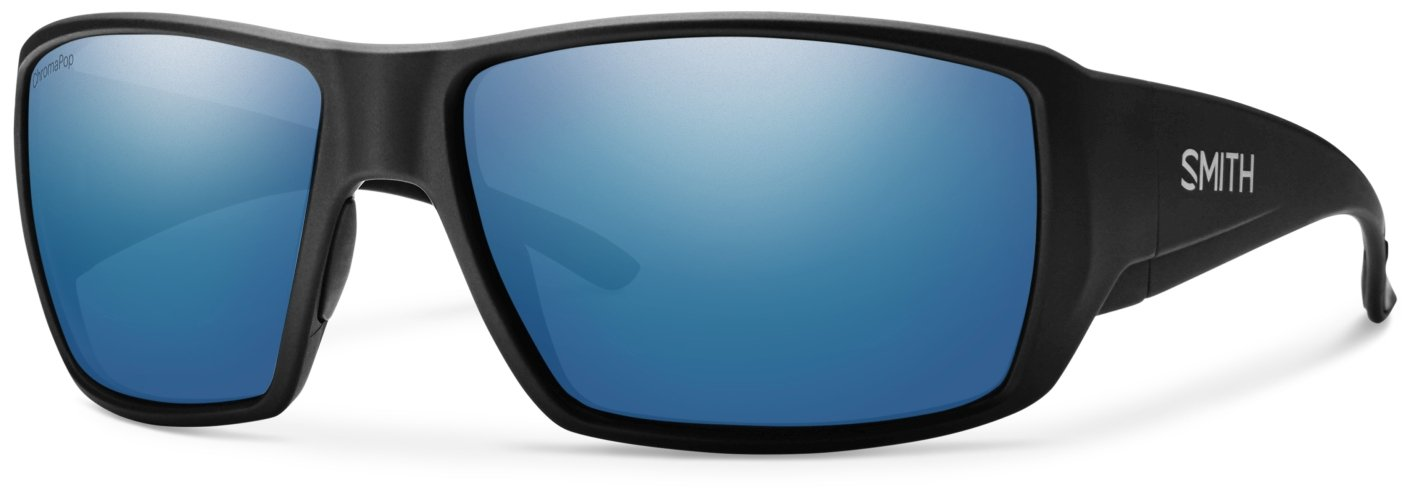 Smith Guides Choice ChromaPop Polarized Sunglasses, Matte Black, Blue Mirror Lens by Smith Optics