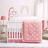 Audrey Coral Floral Baby Crib Bedding - 20 Piece Nursery Essentials Set
