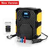 Mookis Portable Auto Air Compressor Pump and Electric Car Tire Inflator, 12V DC 150PSI