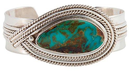 Kingman Turquoise Bracelet (Navajo Native American Kingman Turquoise Bracelet by Roy)