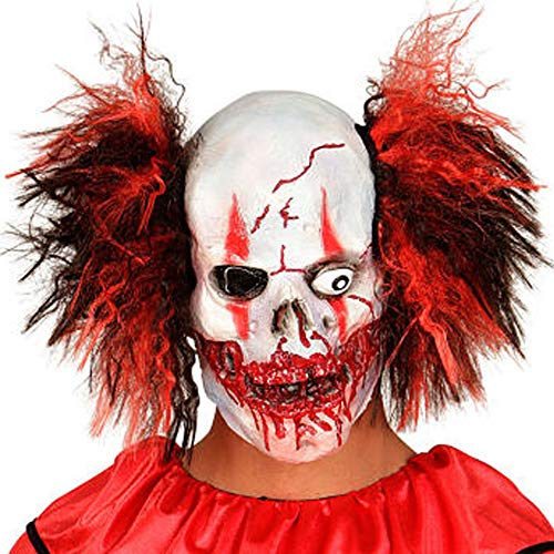 XIAO MO GU Latex Halloween Party Cosplay Face Mask Crazy Clown Costumes Mask Creepy Funny for Adults (Crazy)