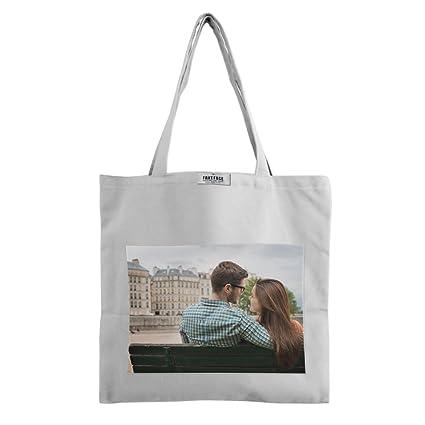 amazon com photo customized sling shoulder bag canvas crossbody