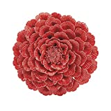 IMAX 83300 Kastania Porcelain Wall Flower, Red