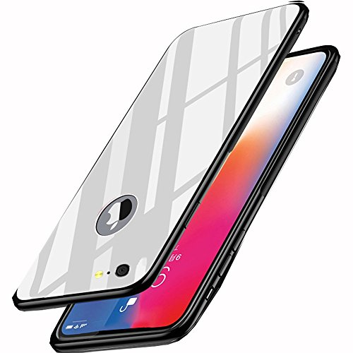 Samhe iPhone 6/ 6S Case Tempered Glass Back Cover Shockproof 360 Protection Ultra Thin Luxury Cover Case for Apple iPhone 6/ 6S (White) ()