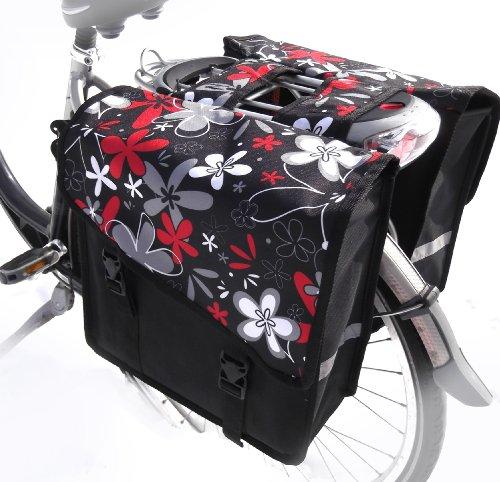 TJ-L-46 Fahrradtasche JENNY LONG ROCK Colours Satteltasche Gepäckträgertasche 2 x 14 Liter