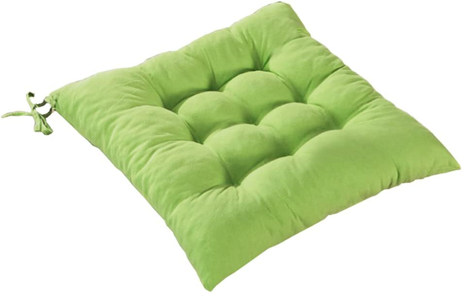 Solid Color Stuffed Chair Cushion with Ties LivebyCare Filled Seat Back Cushions Square PP Cotton Insert Filling Pad for Decor Decorative Home Sofa Bedroom