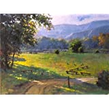 The High Quality Polyster Canvas Of Oil Painting  Decorative Landscape Painting On Canvas: The Grassland  ,size...