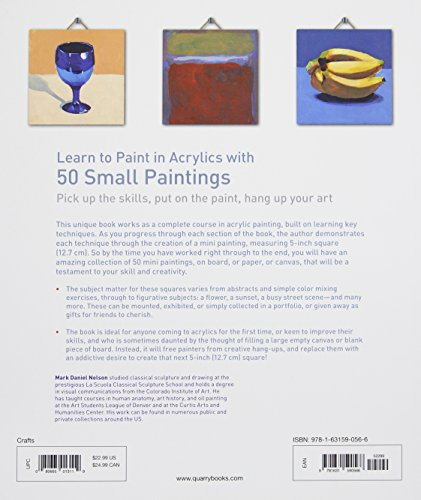 Learn to paint in acrylics with 50 small paintings pick for Learn to paint online