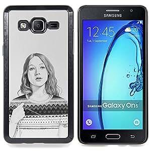 """Planetar ( Hombre africano de Masai Bushman 3D"""" ) Samsung Galaxy On5 O5 Fundas Cover Cubre Hard Case Cover"""