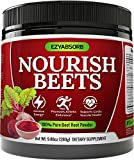 EzyAbsorb Beet Root Powder - Organic Beet Root Juice Powder + BCAA Amino Acids, Vitamins C, B3, B12 + L-Arginine HCL + L-Citrulline Dl-Malate + Bioperine   Nitric Oxide Booster Supplement   Non-GMO Hy