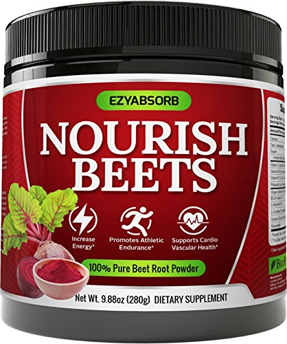 EzyAbsorb Beet Root Powder - Organic Beet Root Juice Powder + BCAA Amino Acids, Vitamins C, B3, B12 + L-Arginine HCL + L-Citrulline Dl-Malate + Bioperine | Nitric Oxide Booster Supplement | Non-GMO Hy by EzyAbsorb