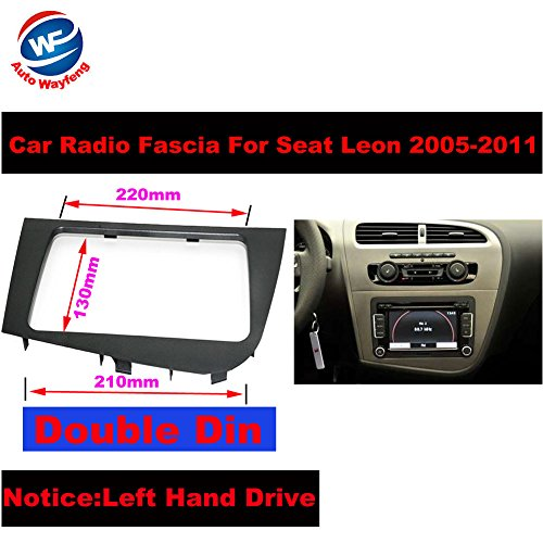 Auto Wayfeng WF Double 2 DIN Car Stereo Radio Head Unit GPS Navigation plate panel Frame Fascias for 2005-2011 Seat Leon Left Right Hand Driving - Left Hand Drive