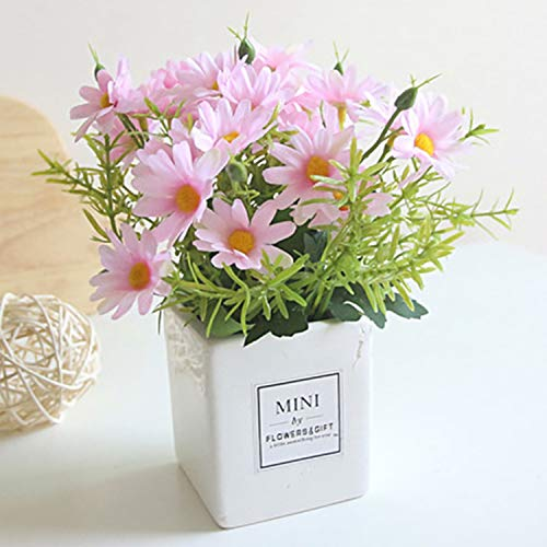 (AIFUSI Artificial Flowers Artificial Gerber Daisy for Home Decoration, Artificial Daisy for Wedding Decoration (Pink))