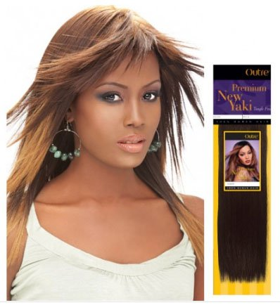 Outre Premium New Yaki 100% Human Hair 18