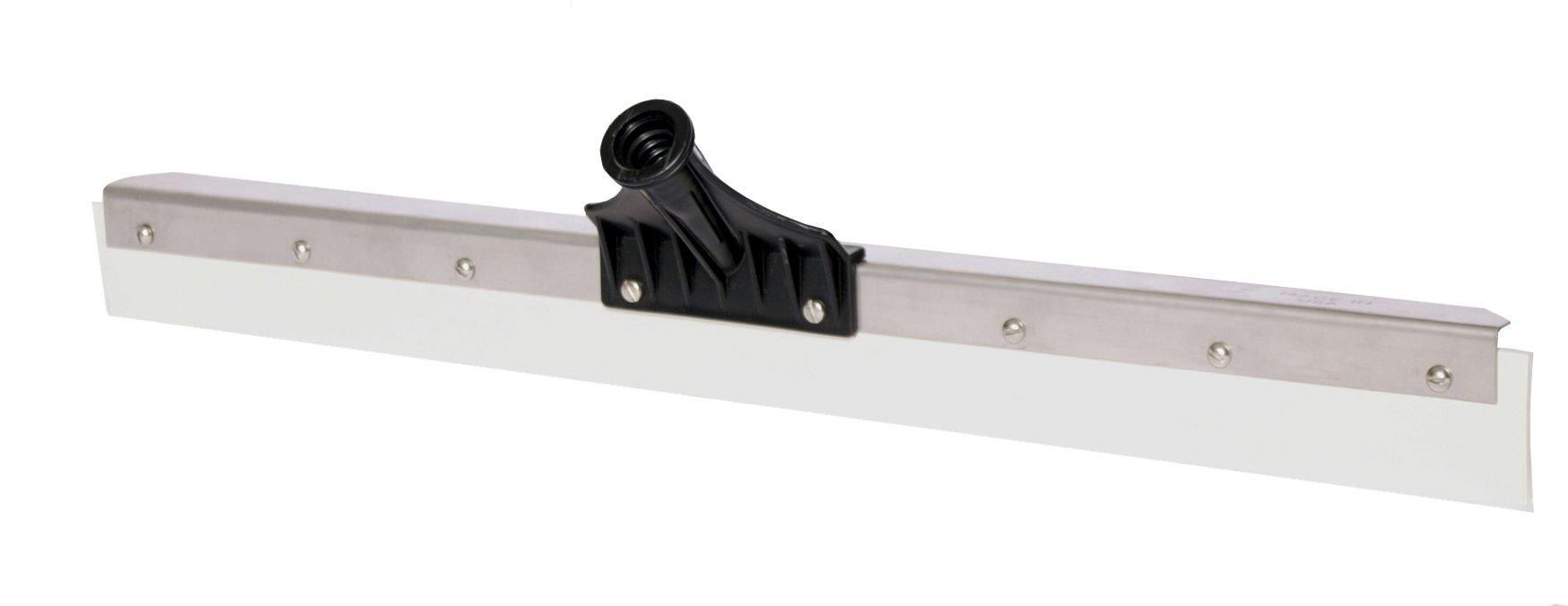Haviland 2424 Nitrile Rubber Heavy Duty Steel Floor Squeegee, 24'' Length, White