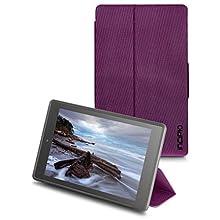 Incipio Clarion Folio Fire HD 8 Case (Previous Generation - 2015 release), Plum Purple