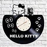 Hello Kitty vinyl record wall clock artwork gift Review and Comparison