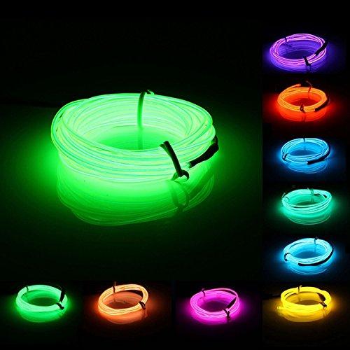 5 M EL LED柔軟なソフトチューブワイヤネオングロー車ロープストリップライトクリスマス装飾DC 12 V (ランダム:カラー) B072NGYZGC