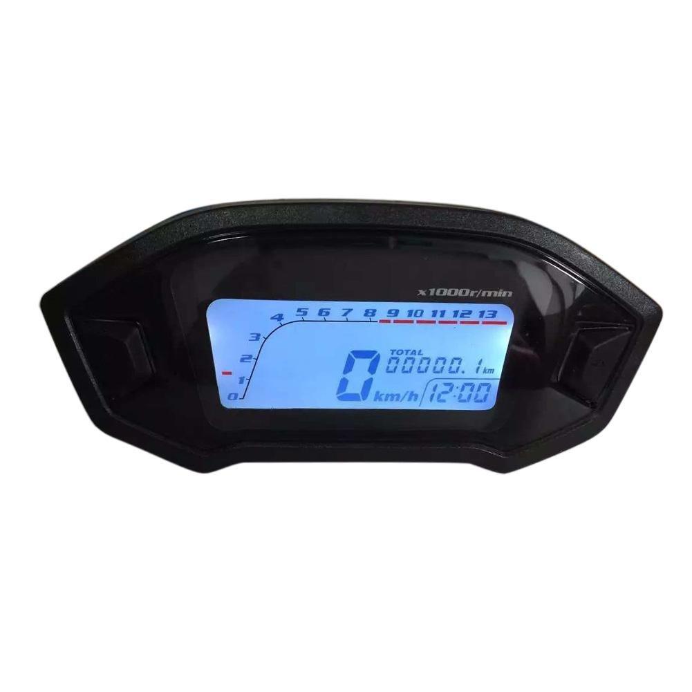Everpert étanche DC 8–12V pour Moto écran LCD KM/Mile TR/min Speed Jauge de mètre