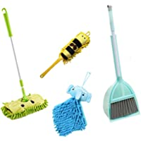Xifando Kid's Housekeeping Cleaning Tools Set-5pcs,Include Mop,Broom,Dust-pan,Brush,Towel