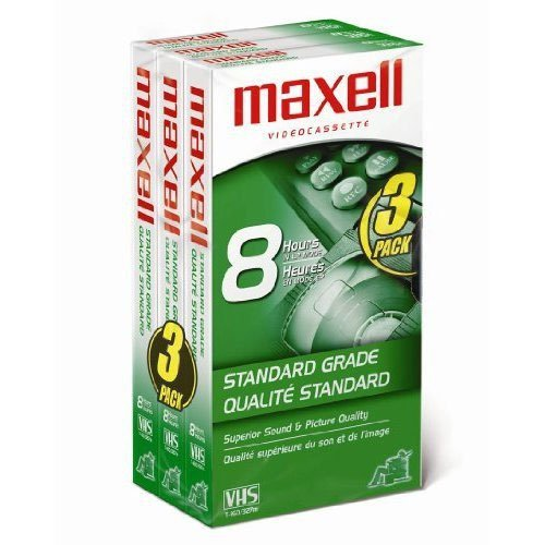 Maxell 213030 VHS T160 Standard Grade - 3 Pack by Maxell