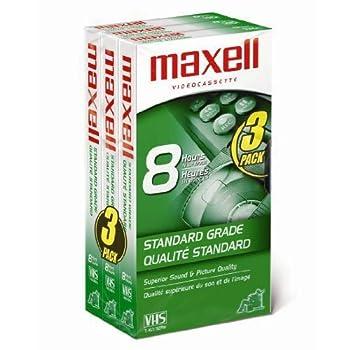 Maxell 213030 Vhs T160 Standard Grade - 3 Pack 0