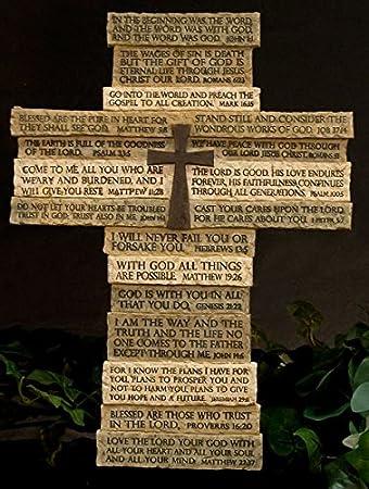 christian wall cross multi verse scripture decorative cross - Decorative Cross