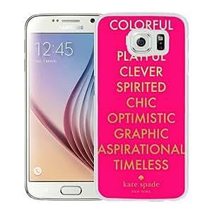 S6 case,Kate Spade 268 White Samsung Galaxy S6 cover