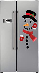 Snowman Refrigerator Magnets, 16 pcs Self-adhensive Refrigerator Magnets Stickers, Christmas Decorations, Metal Door Garage Office Cabinets(Large)