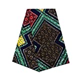 Vska Men's Basic Cotton Dashiki African Printed Traditional Fabric Multi OS