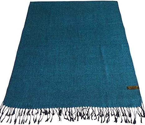 Black /& Turquoise Solid Colour Design Shawl Scarf Wrap Pashmina CJ Apparel *NEW*