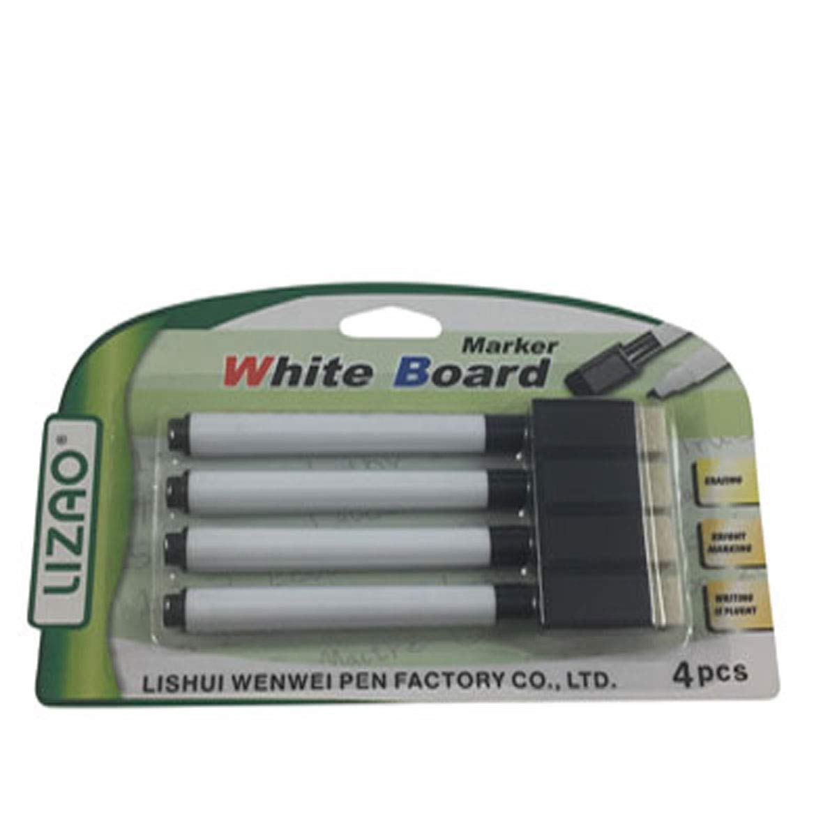 NEW UK Based Seller 4 Magnetic Dry Wipe Pens White Board Markers with Eraser
