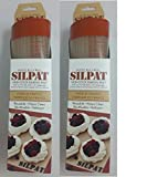 Silpat Premium Non-Stick Silicone Baking Mat, 11 3/4 Inch x 8 1/4 Inch (2 pack)