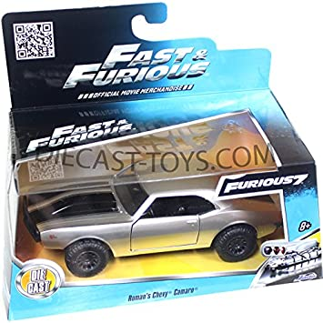 JADA 1:32 FAST AND FURIOUS 7 ROMAN/'S CHEVY CAMARO OFF ROAD SILVER 97186