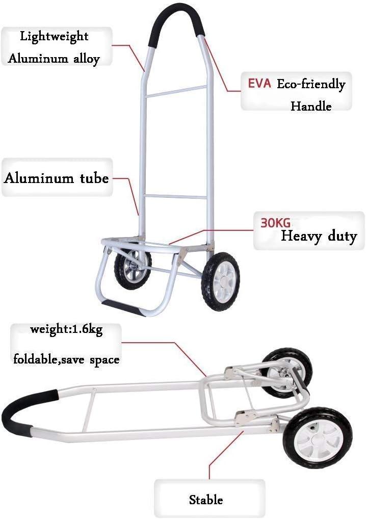 BBG Multifunctional Portable Folding Shopping Trolleys with Wheels 56 L Aluminum Large Capacity Cart Trolley