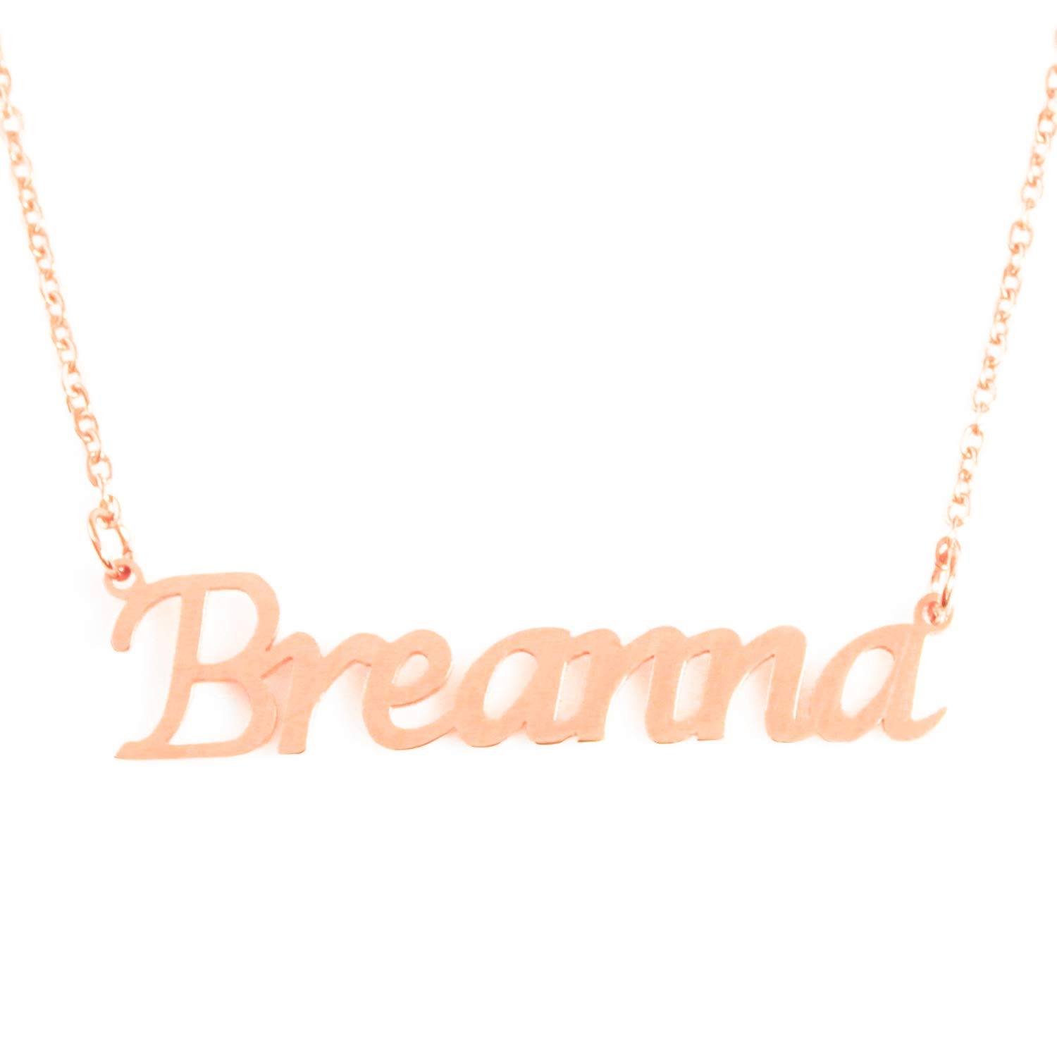 18ct Rose Gold Plated Zacria Breanna Custom Name Necklace Personalized
