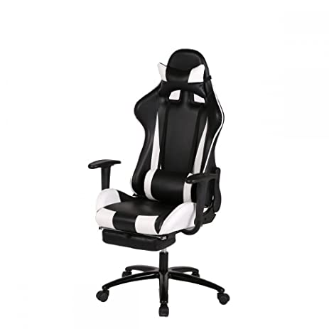 Video Game Chair Gaming Chairs Laptop Computers Computer Racing Cool Kids Adult Laptops Office Networking White