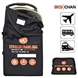 Beschan Standard or Double/Dual Stroller Gate Check Bag XL Travel Bag Thicken Strengthen Foldable for Airport, Airplane Gate Check, Car Trips