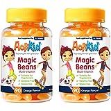 SPECIAL OFFER 2x ActiKid Magic Beans Multi-Vitamin 90x Orange Flavour, Gelatin free