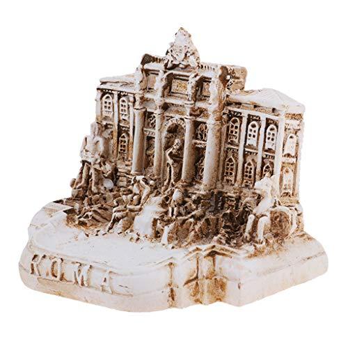 Fenteer Resin Fontana di Trevi Building Model Rome Landmark for Sand Table Dioramas