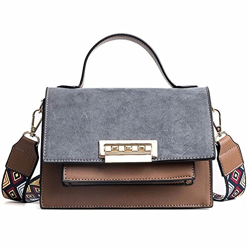 Bolso De Hombro Cuadrado De Color Retro Hit Hit Pequeño Estilo Bolso De Hombro Elegante Con Estilo Messenger Bag Workbags Gray