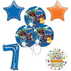 Skylanders 7th Birthday Party Supplies and Balloon Decoration Bouquet Kit