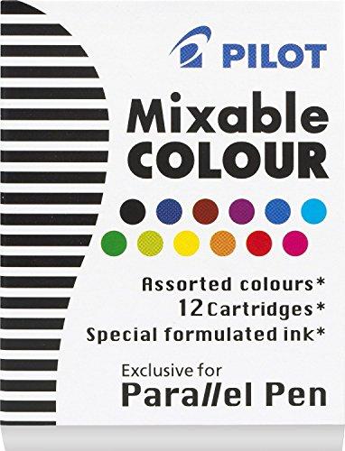 Pilot Refill Box (6 BOXES: Pilot Parallel Pen Ink Refills for Calligraphy Pens, Assorted Colors, 12 Cartridges per Pack (77312))