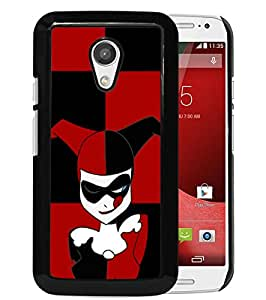 AZE Beautiful Fashion Harley Quinn Black Case Cover For Moto G 2nd gen