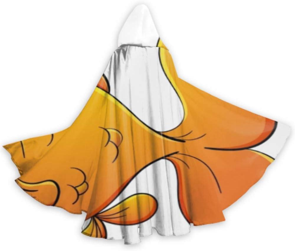 N\A Capa de natación Libre de Peces Kawaii Animada Capa para niños ...