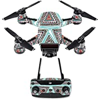 Skin for DJI Spark Mini Drone Combo - Aztec Pyramids| MightySkins Protective, Durable, and Unique Vinyl Decal wrap cover | Easy To Apply, Remove, and Change Styles | Made in the USA