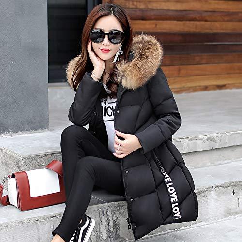 Noir Longue D'hiver Femmes Pour Veste Coton Clothing Coton En Vêtements Épais Minces Pain SqxqZdvw