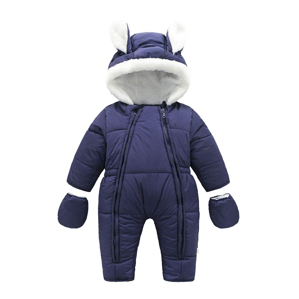 Baby Snowsuits Infant Hooded Romper Winter Jumpsuit Onesies Winter Outfits