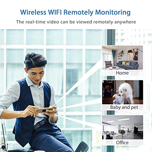 Mini Spy Camera WiFi, Relohas 1080P Spy Hidden Camera Upgraded Night Vision Spy Cam, Portable Nanny Camera with Motion Detection for Home/Office Security and Outdoor (with Cell Phone App) by Relohas (Image #3)