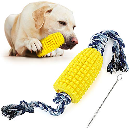 PEWOD Dog Toys for Aggressive Chewers   Puppy Teething Chew Toys     Upgraded Indestructible Tough Durable Dog Chew Toy…